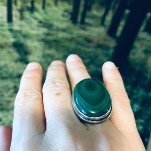 Jewelry - Sterling Silver Malachite ring